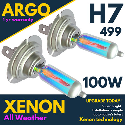 H7 100w 8500k Xenon Hid Super White All Weather Effect Look Headlight Bulbs 12v