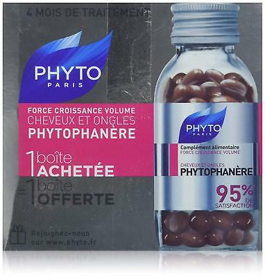 PHYTO PARIS Phytophanere Hair And Nails Dietary Supplement 2 x 120 Caps = 240