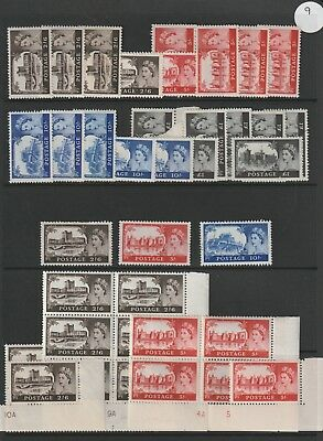 Gb Stamps Queen Elizabeth Ii High Value Castles Selection No Watermark