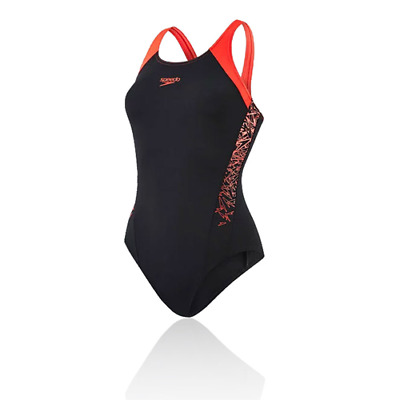a0fd753391dd COSTUME DA BAGNO INTERO DA DONNA SPEEDO BOOM SPLICE MUSCLEBACK black red  nuoto