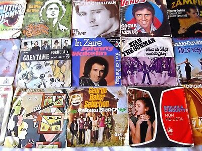 """Collection of 15 X 1970s European POP 7"""" Jukebox Records Singles 45s Job lot"""