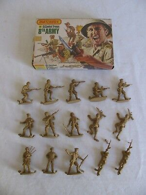 Matchbox 1/32 Scale British 8th Army Combat Troops Playset Figures #P6005 NIB