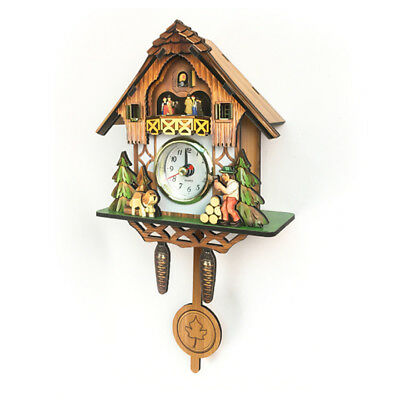 Antique Cuckoo Wall Clock Vintage Wooden Clock Home Decor Excellent Gift A