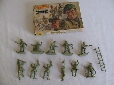 Matchbox 1/32 Scale British Commandos Combat Troops Playset Figures #P6006 EX