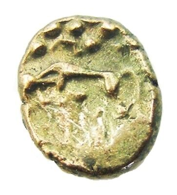 50 - 15 B.C. Excavated Celtic Gold Stater Iceni Norfolk Wolf type