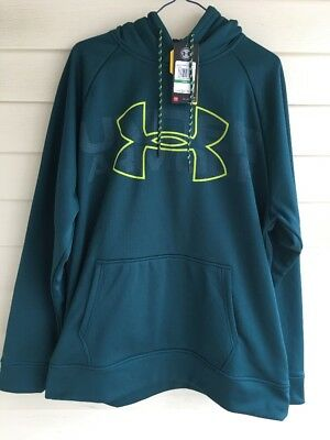 NWT Under Armour UA Threadborne Fleece Graphic Women's Hoodie XL M L XS Blue