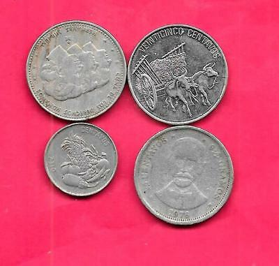 Dominican Republic 4 Diff Different 1976-91 Coin Lot Collection Set Group W Old