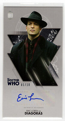 Dr Who Tenth Doctor Adventures Eric Loren as 'Diagoras' Autograph Card 01/10