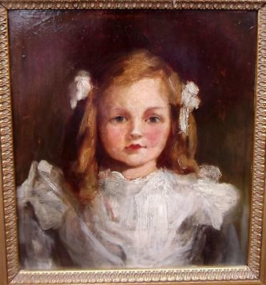 Ralph Peacock? Higgins Rigg? Period Antique British Society Oil Painting of Girl
