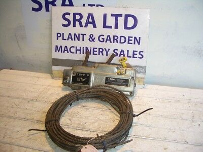 TIRFOR T508 800KG WIRE ROPE WINCH + APPROX 15m  WIRE WINCH ROPE VAT INC SRA 1