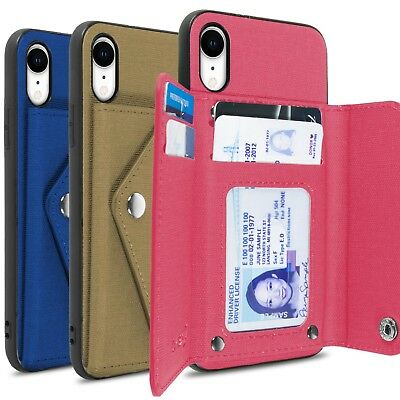 CoverON Pocket Pouch Series Apple iPhone XR / 10R Wallet Case Fabric Phone Cover