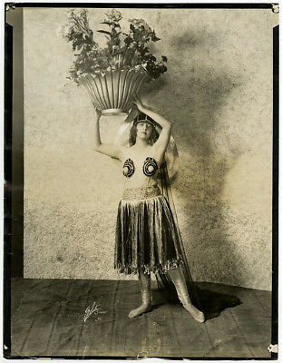 Vintage Lrg Paul Poiret Costume Broadway Showgirl Photograph Jean Barnette 1920