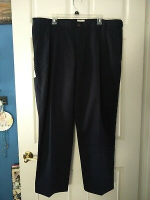 385110fbe3 Nwt! St. John's Bay Men's Worry Free Chino Pleated Front Pants Size 42X28  Navy