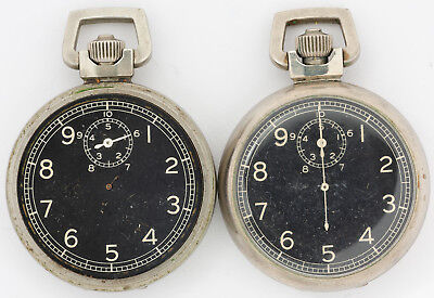 Pair of Antique Elgin 15j Military Stop Watches for Parts Use out of an Estate!