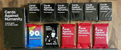 Cards Against Humanity COMPLETE SET! 1-6 Expansions Holiday Nostalgia Science