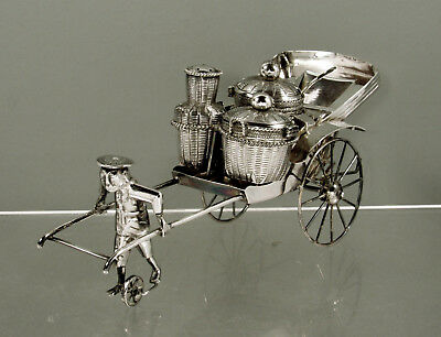 Chinese Export Silver Cruet Set      c1920  Driver-Carriage-Baskets