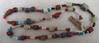 Very Nice Strand Of Old California Trade Beads With Docs--Nr!