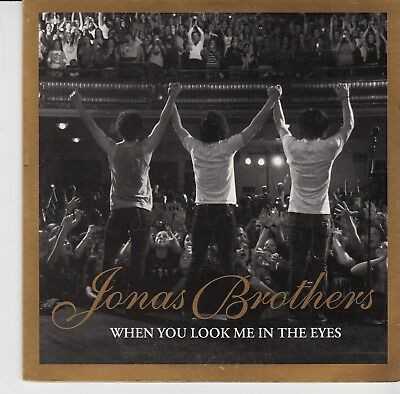 JONAS BROTHERS When You Look Me In The Eyes / Shelf LIVE 2 TR CARDslv CD SINGLE