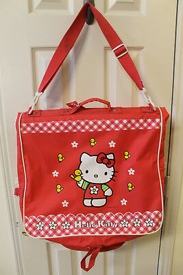 Vintage Sanrio Hello Kitty Red Garment Bag Travel Bag Suitcase 1999 RARE 22bcde1d46bb8