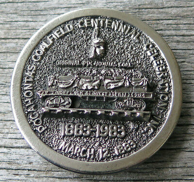Pocahontas Coalfield Coal Mine Mining 1980's Vintage Belt Buckle