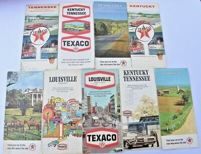 TEXACO Map Lot of 9 Different Service Station Maps Gas Oil Fuel 1960's-70's