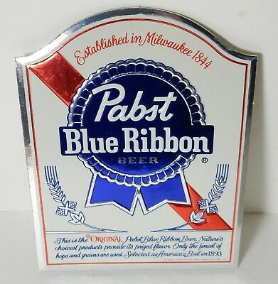 Nos Small Pabst Blue Ribbon Cardboard Sign