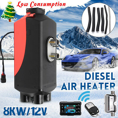 12V 8KW Diesel Air Heater LCD Thermostat Switch 8000W For Truck Boat Car Trailer