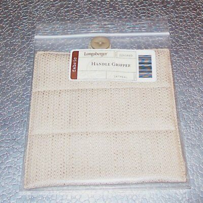 Longaberger Oatmeal HANDLE GRIPPER Button-Style ~ Brand New in Original Bag!