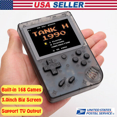 2019 Built-in 168 Classic Games Retro FC Mini TV Handheld Game Console 3.0''