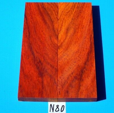 1 Pair Knife Scales Colorful Cocobolo~Knife Handle Scales~Exotic Wood Lumber