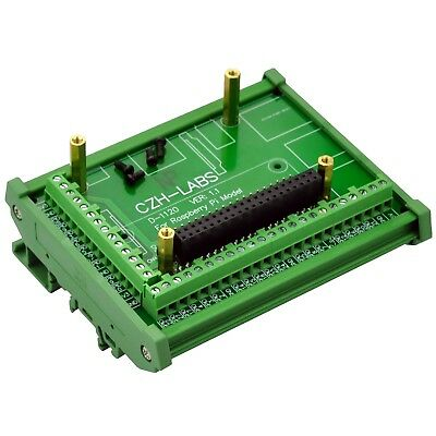 DIN Rail Mount Screw Terminal Block Adapter Module, for Raspberry Pi 1 / 2 / 3 B
