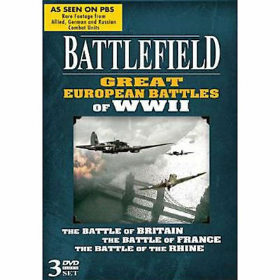 Battlefield: Great European Battles of WWII DVD 3 Disc Set