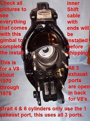 Mercruiser Type 1 Mc 1 Cardán V8 1969/1975 Gimble 931 Travesaños 589 Montaje