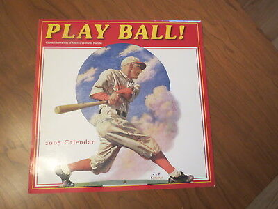 2007 Play Ball Wall Calendar Ronnie Sellers Productions