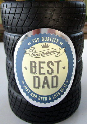 """Beer Holder """"100% Authentic Best Dad Just Add Beer""""! Great Birthday Gift! Bn"""