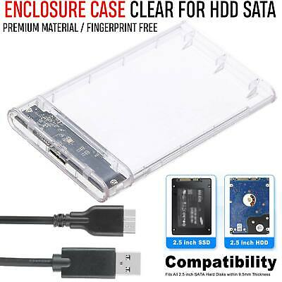 External 2.5″ HDD Enclosure USB 3.0 SATA Hard Drive Caddy Case for Laptop PC