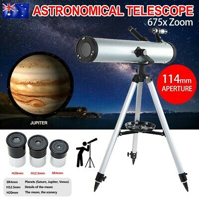 114mm Aperture Astronomical Telescope 675x Zoom HD High Resolution Night Vision