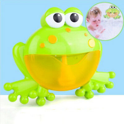 Bubble machine big frog automatic bubble maker blower music bath toys for bab JM