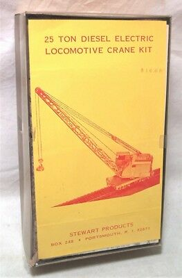 Stewart Ho Brass & Cast Metal 25 Ton Diesel Electric Locomotive Crane Kit - Mib
