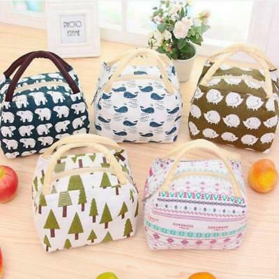 01d7a4e097bb PORTABLE INSULATED THERMAL Cooler Bento Lunch Box Tote Picnic ...