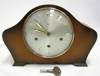 Rare Vintage Smiths 8-Day Floating Balance Mantel Clock With Westminster Chimes