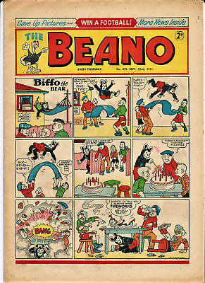 BEANO # 479 September 22nd 1951 the comic magazine Dennis the Menace