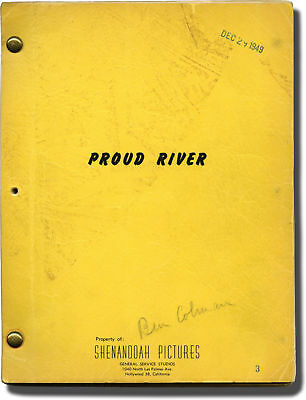 Herb Meadow PROUD RIVER Original screenplay for an unproduced film 1950 #142292