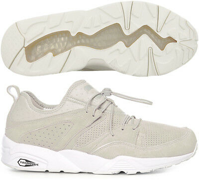new concept b8a78 ed8b1 Puma Blaze of Glory Soft Mens Suede Trainers - Grey