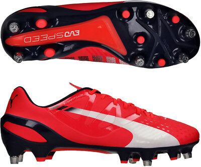Puma EvoSpeed 1.3 Mixed Soft Ground Mens Football Boots - Red