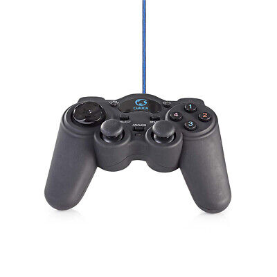 USB 2.0 Wired Game Controller Gamepad Joypad for Laptop PC Computer UK Stock