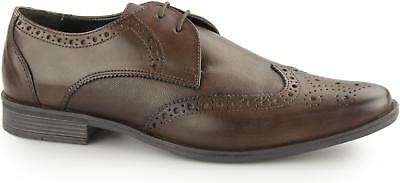 Silver Street WEST Mens Leather Smart Office Derby Lace Up Brogue Shoes Brown