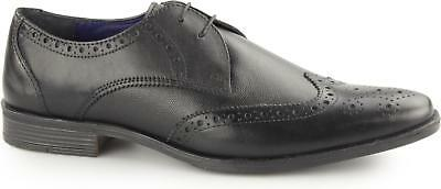 Silver Street WEST Mens Leather Smart Office Derby Lace Up Brogue Shoes Black