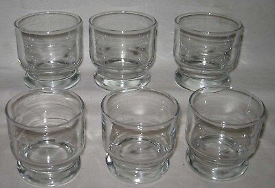 """(6) Vintage Princess House Heritage High Ball Old Fashioned 2 3/4"""" Glasses"""