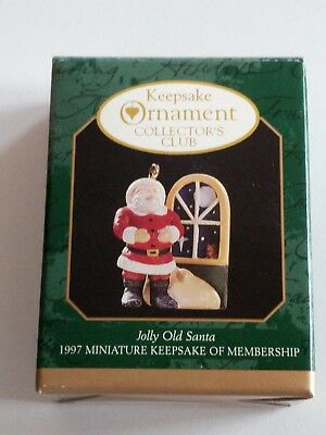 Hallmark 1997 Jolly Old Santa - KOC Membership Miniature Ornament - NEW